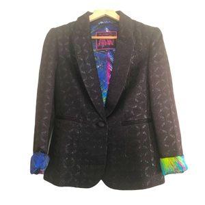 🇬🇧 Jacquard Blazer Rainbow Splash Lining 6